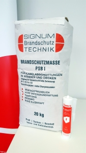 Read more about the article SIGNUM Brandschutzmasse PSB 1